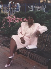Mom in her pink suit.